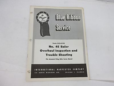 International Harvester 45 Baler Inspection Trouble Shooting Service Manual