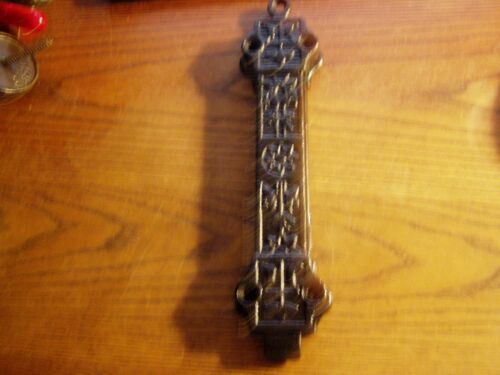 "Antique Cast Iron Victorian Eastlake Chain  Pull   9 ""  Door Latch"