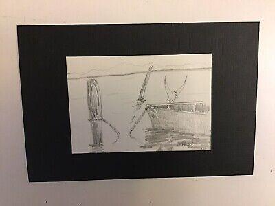 Pencil Sketch of a Boat