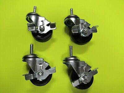 4 Ea Swivel Casters Brake 3 X 1.25 Wide 716 Grip Ring Stem Time Shaver H10