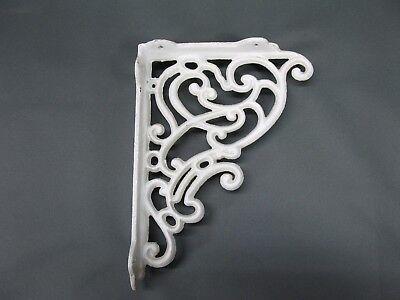 Regal Konsole Wandkonsole Regalträger Haken Gusseisen  25 cm x 19 cm Winkel weiß