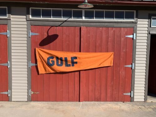 Vintage Gulf Oil Wind Sock, Airport, Heavy Canvas, Aviation, Advertising