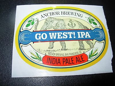 Anchor Brewing California Go West Ipa Sticker Decal Craft Beer Brewery Steam