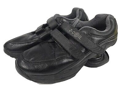 Z-Coil Black Leather Sneaker Tennis Shoe Mens 11 M Comfort Shoe Easy Closure