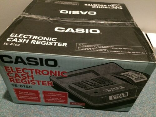 New Casio SE-G1SC Electronic Cash Register Thermal Print,