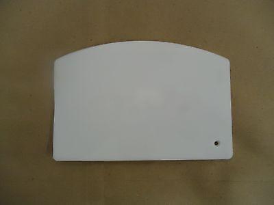 New White Plastic Dough Scraper - 5-12 X 3-34 - Cake Bakery - Free Ship