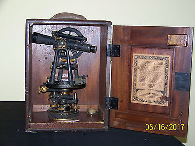 Vintage C.l.berger Sons Surveying Transit Instrument Of Precision-works