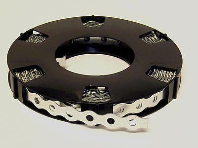 10 Rollen Lochband 17 mm Stahl verzinkt/ Wellenform