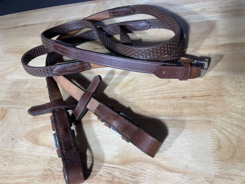 """Leaders Classic Pimple Grip Reins - Great Quality! 56"""""""
