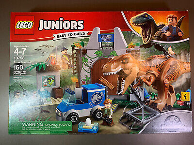 Lego 10758 Juniors 4+ Jurassic World T. Rex Breakout Building Kit 150 pcs NEW