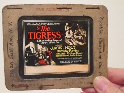 The Tigress  - Original 1927  Movie Glass Slide - Jack Holt