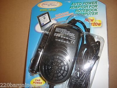 Laptop Car Power Adapter Works for most laptops