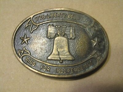 #B Vintage Belt Buckle Liberty Bell 1976 Ring for Independence
