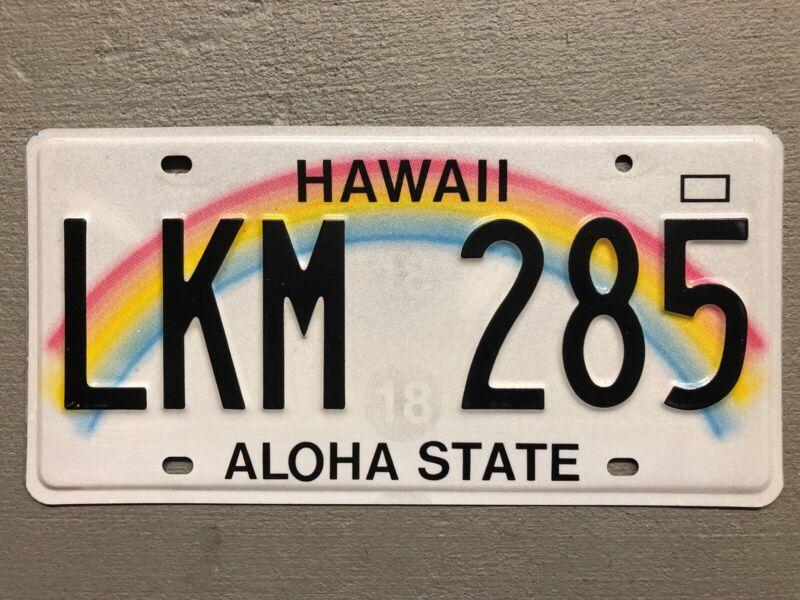 HAWAII LICENSE PLATE RAINBOW 🌈 ALOHA STATE RANDOM LETTERS/NUMBERS NICE!!!