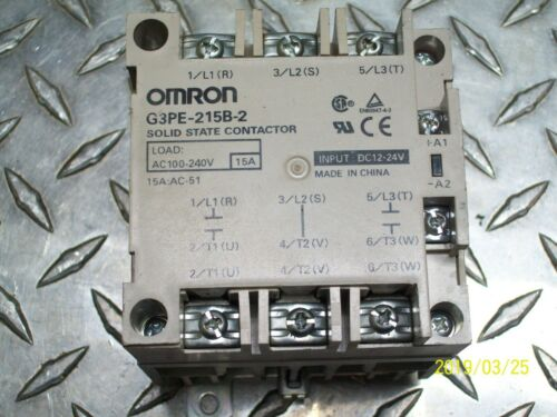 OMRON SOLID STATE CONTACTOR , G3PE-215B-2