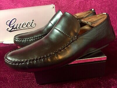 801863ca4f6  590.00 Mens Brown Gucci Leather Loafers Sz 11.5 G   12.5 D US Made In ITALY