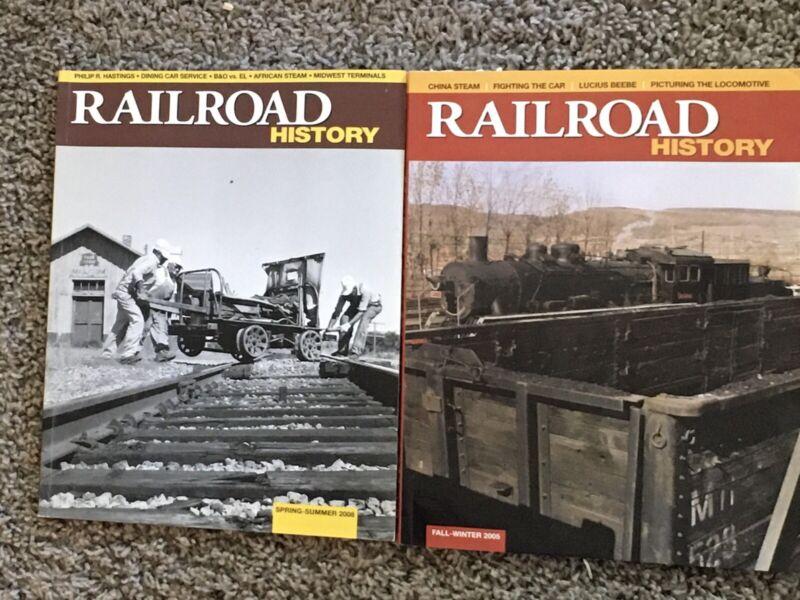 Railroad History Magazine, Lot of 2, 2005, 2008