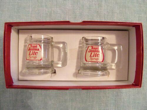 "VINTAGE  LITE Syrup Mug Individual Service Pitcher Set 2 3/8"" & Box"