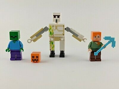 Lego Minecraft 21123 Iron Golem Alex and Zombie Mini Figures