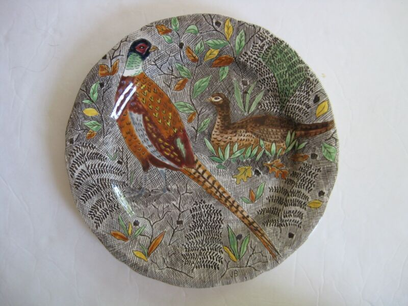 Gien French Faience Rambouillet Pheasants Dinner Plate