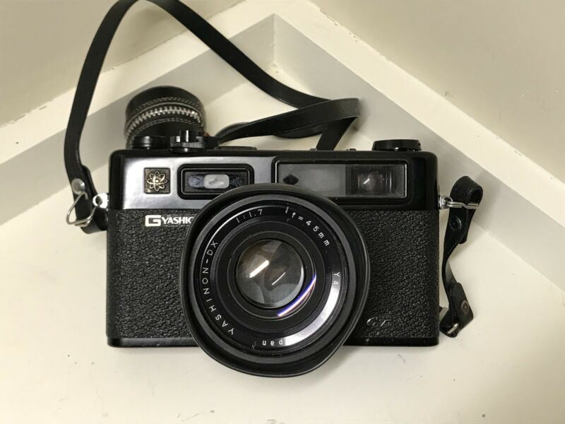 Yashica Electro 35 GT Camera w/ 2 Cases, Lenses & Filters - MINT