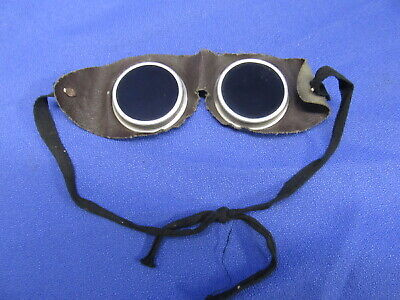 Vintage Welding Goggles Glasses Steampunk Aviator Style