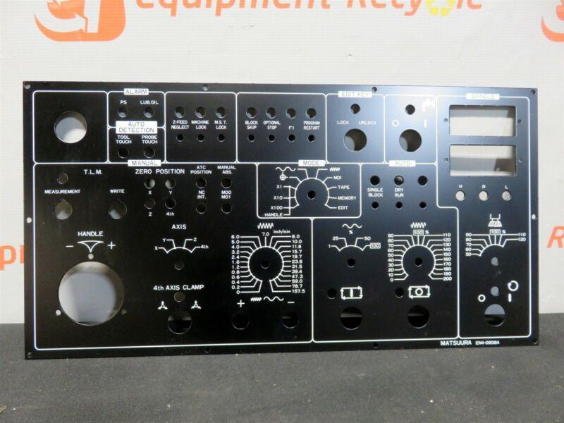 Matsuura Yaskawa EN4-0908A Main Operator Control Panel Faceplate