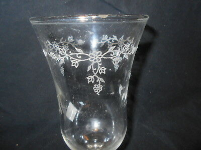 Clear Etched Tiny Flowers Votive Cups Lot of 6 Vintage Home Interiors