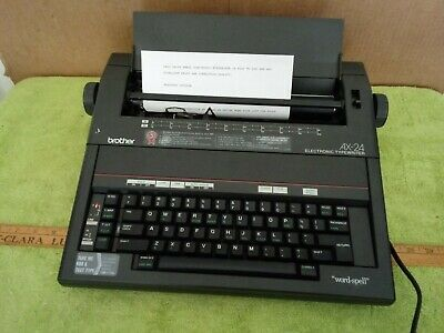 Brother Ax- 24 Electronic Typewriter Word Processor Electronic Word Spell
