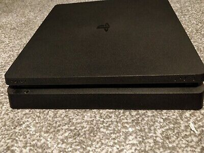 PS4 Slim 500GB Console (Black). Refurbished. No controller or games.
