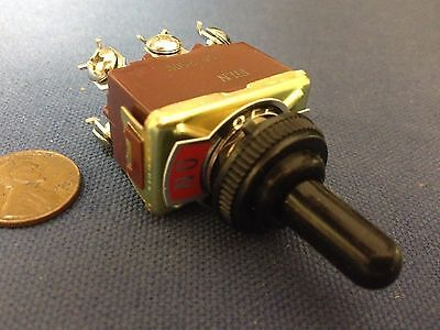 1 Piece Red Waterproof Boot Cap Dpdt Momentary Toggle Switch Onoffon Car Boat