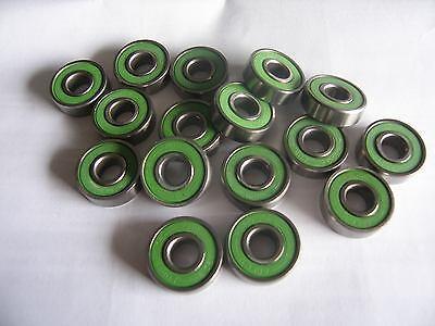 16 Stück Powerslide Inline Lager ABEC 9 green , Neu