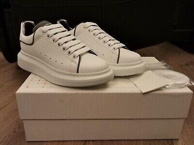 Alexander McQueen Reflective White & Silver Oversized Trainers UK 4 EU 37