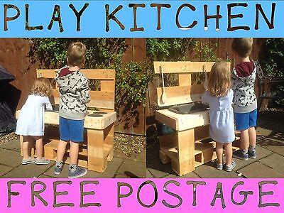 CHILD/KIDS OUTDOOR PLAY MUD KITCHEN TOY - NURSERY/SCHOOL/GARDEN - FREE POSTAGE!!