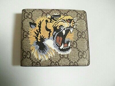 Gucci GG Supreme Animalier Tiger Wallet - Card Bifold Wallet