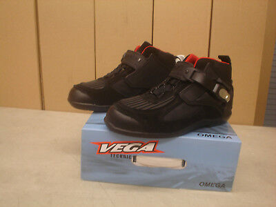 Vega Omega Mens Motorcycle Street Riding Boots/Shoes Black