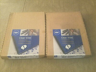 2--gbc Clear View Presentation Covers 8 12 X 11-100 Ct -clear-velobind Punch