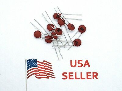 .1uf Ceramic Disc Capacitor 50v 100nf 10 Pieces Usa Seller
