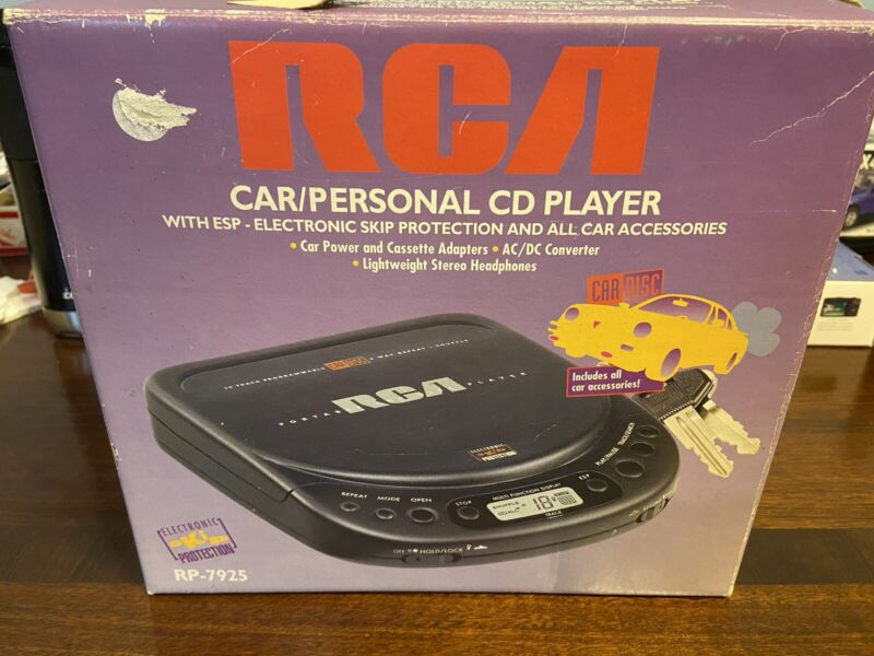 RCA RP-7925  Car/Personal CD PLAYER w/ Electronic Skip Protection- in box