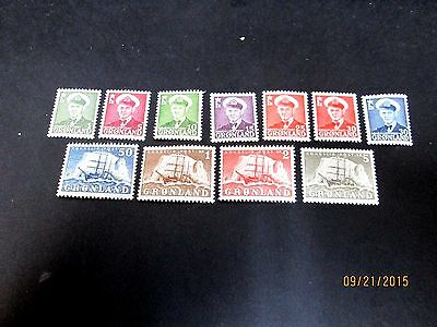 GREENLAND 1950 SET COMPLETE(11 VALUES)VERY FINE MINT NEVER HINGED