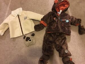 Baby boy snowsuits and coats.