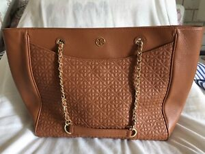 TORY BURCH BRYANT QUILTED LEATHER TOTE BAG