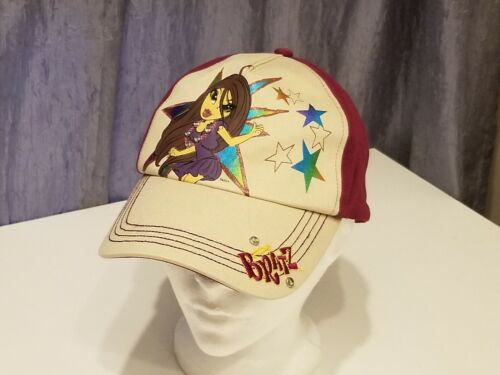 Collectible MGA Womens Bratz Baseball Cap Hat EUC Tan Plum Adjustable Jasmin