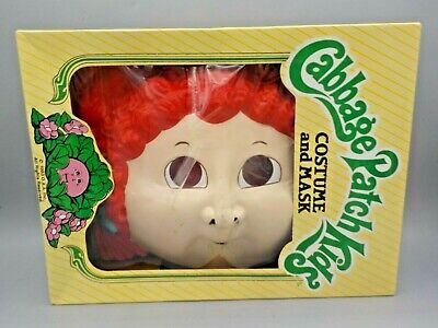 Vtg 1983 Cabbage Patch Doll Kids Halloween Costume Ben Cooper Mask Small w/Box