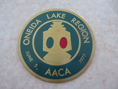 Oneida Lake Region New York State AACA car dash badge for Ford Chev Buick