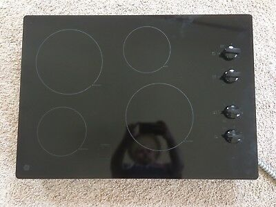 "GE 30"" Built In Knob Control Electric Cook JP3030DJ2BB 4 burner flat top stove"