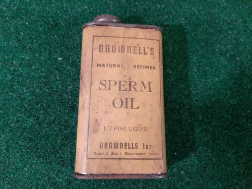 Vintage Brownells Sperm Oil Can 1/2 Pint
