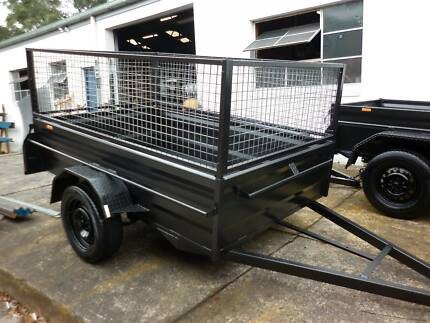 8x5 brand new high side box trailer+cage