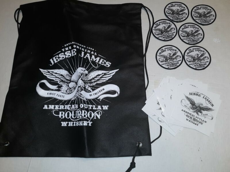 Lot of JESSE JAMES Bourbon Whiskey Decal Sticker