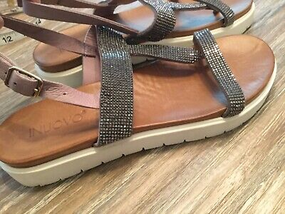 Inuovo Leather Slingback Flatform  Sandals Women Sz 8